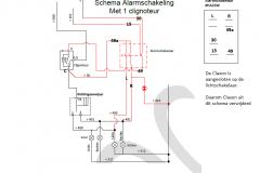 Alarm Schakeling met HAZSW alarmschakelaar (variant 2)